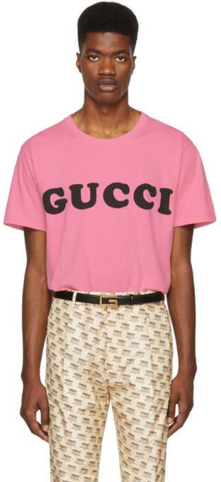 Gucci Pink Logo T-Shirt