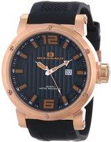 Oceanaut Men's 48mm Silicone Band Steel Case Quartz Analog Watch Oc2111