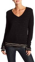 Michael Stars Reversible Double Layer V-Neck Sweater