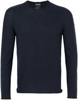 Giorgio Armani crew neck jumper - men - Polyester/Cashmere - 46