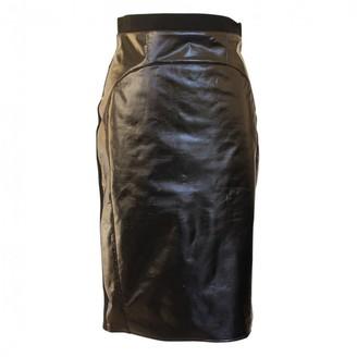 Francesco Scognamiglio Black Leather Skirt for Women