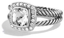 David Yurman Petite Albion Ring with White Topaz and Diamonds