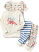Old Navy Fox-Graphic 4-Piece Sleep Set for Toddler & Baby