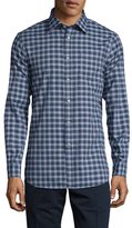 Jachs Flannel Cotton Plaid Sportshirt