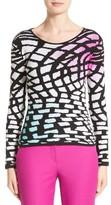 Armani Collezioni Women's Intarsia Knit Wool & Cashmere Sweater