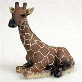 Conversation Concepts Sitting Giraffe Miniature Resin Figurine