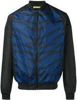 Versace stripe bomber jacket - men - Polyester - 48