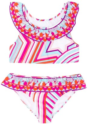 Emilio Pucci Junior Printed Bikini Set