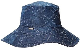 Lauren Ralph Lauren Packable UPF Sun Hat (Denim) Caps