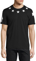 Givenchy Cuban-Fit Star-Applique T-Shirt, Black