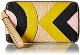 Orla Kiely Croc Applique Leather Large Zip Pouch Wallet