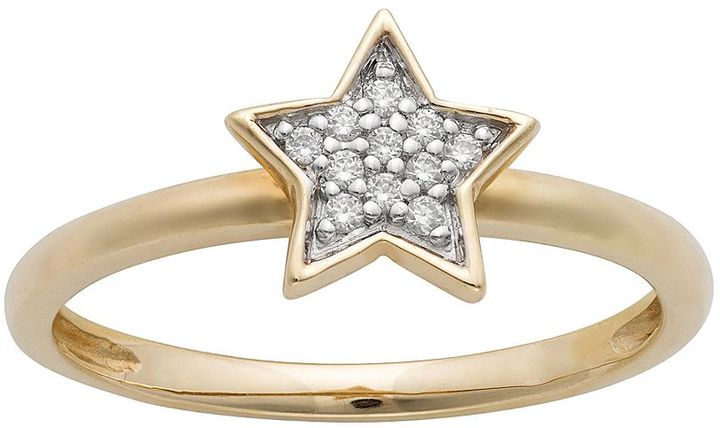 JLO by Jennifer Lopez Jlove by 10k gold 1/10-ct. t.w. diamond star ring