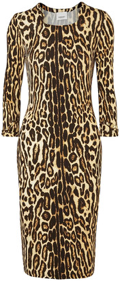 Burberry Leopard-print Stretch-jersey Dress