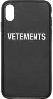 Vetements Black Logo iPhone XS Max Case
