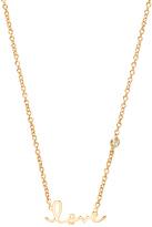 Sydney Evan Shy by Love Necklace with Diamond Bezel