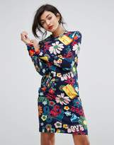 Love Moschino Woodstock Allover Printed Shift Dress