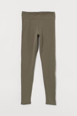 H&M Leggings High Waist - Green