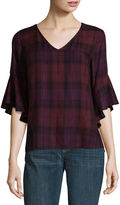 A.N.A a.n.a Belle Sleeve Plaid Shirt
