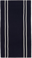Comme des Garcons Navy & White Stripe Scarf