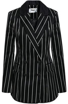Zimmermann Double-breasted Striped Cotton-blend Twill Blazer
