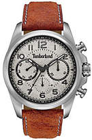 Timberland Men's Stainless Orange Leather Multi-Function Watch