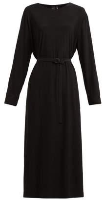 Norma Kamali Tie-waist Jersey Dress - Womens - Black