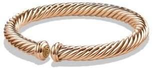 David Yurman Cable Spira Bracelet In 18K Rose Gold, 7Mm
