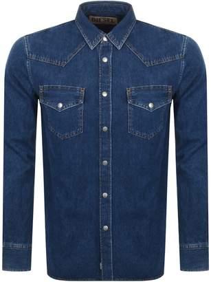 Diesel Long Sleeved D East Denim Shirt Blue