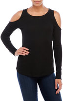 Sweet Romeo Cold Shoulder Thermal Top