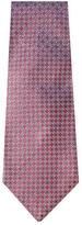 Chanel Vintage Purple Logo Silk Jacquard Tie