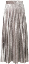 Aviu metallic pleated skirt