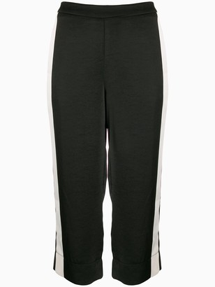 DKNY monochrome cropped trousers