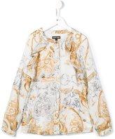 Roberto Cavalli baroque print blouse