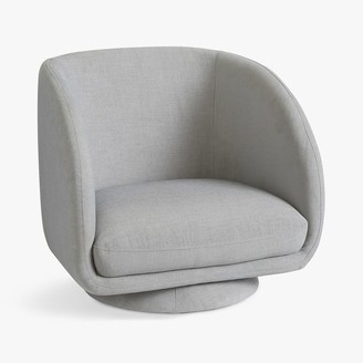 Pottery Barn Teen Chenille Washed Light Gray Reece Lounge Chair