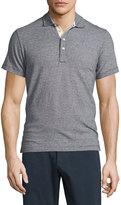 Billy Reid Smith Mini Dot-Print Short-Sleeve Polo Shirt, Navy/White
