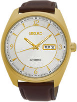 Seiko Recraft Mens Gold-Tone Champagne Automatic Bracelet Watch