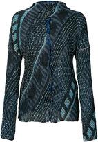 Issey Miyake tribal print jacket - women - Polyester - 2