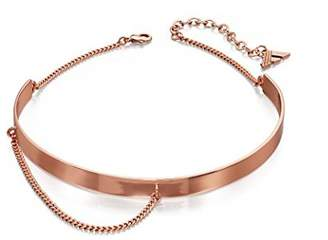 Fiorelli Fashion Imitation Rose Gold Metal and Chain Choker