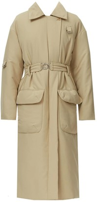 Tibi Clyde Quilted Puff Trench Coat