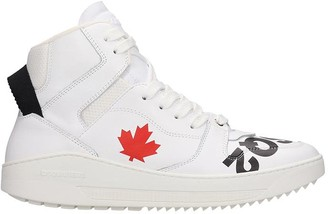 DSQUARED2 Barkley Sneakers In White Leather