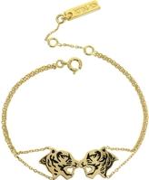 Kenzo Gold Plated Tassel Tiger Bracelet