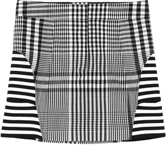 Burberry Stripe And Check Technical Mini Skirt
