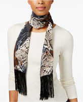 INC International Concepts Snakeskin-Print Fringe Wrap, Only at Macy's