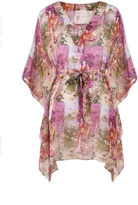 Anya Maj Orchid Printed Silk Chiffon Tunic