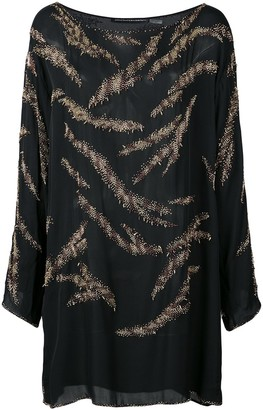 Josie Natori Couture Beaded Tunic