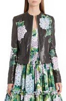 Dolce & Gabbana Women's Hydrangea Painted Leather Jacket