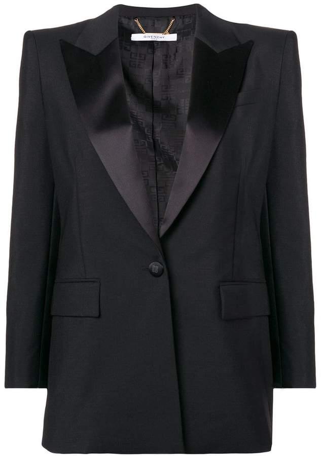 Givenchy peaked lapel blazer