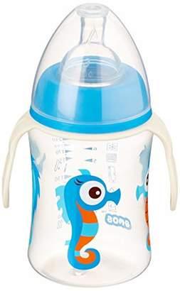 Kuli-Muli 16806 Wide-Neck Baby Bottle Seahorse Boys with Handle 250 ml