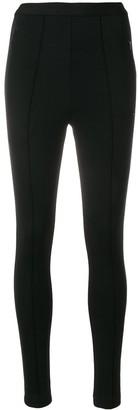 Balenciaga High waisted leggings with rear logo