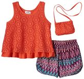 Knitworks Girls 4-6x Crochet Tank Top & Printed Shorts Set
